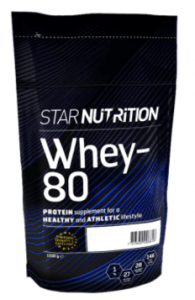 Proteinpulver bäst i test - STAR NUTRITION WHEY 80