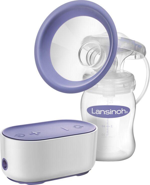 Lansinoh Single Elektrisk Bröstpump Vit/Lila