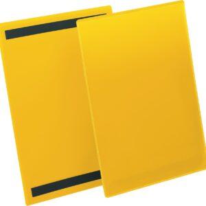 Plastficka A4S magnetisk gul