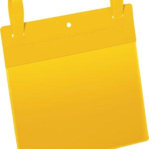 Plastficka A5L m. fästband gul