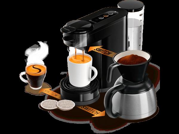 SENSEO HD6594/60 Senseo Switch 3-in-1 Kaffebryggare - Svart