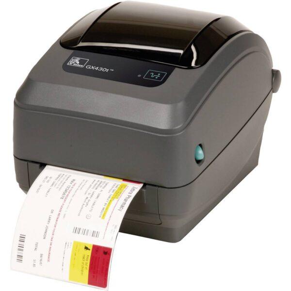 Zebra GX430T Etikettskrivare Termisk överföring 300 x 300 dpi Etikettbredd (max.): 110 mm USB, RS-232, Parallel