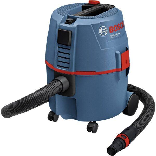 Bosch Professional GAS 20 L 060197B000 Grovdammsugare 1200 W 7.50 l halvautomatisk filterrengöring, Dammklass L certifierad