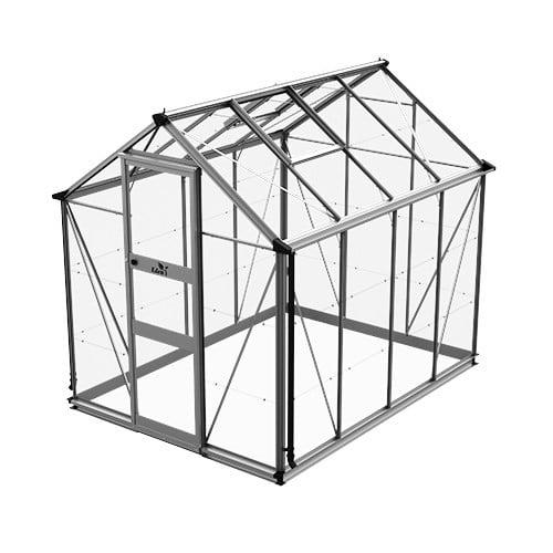 Växthus Odla 4,9 m²-Aluminium-Glas