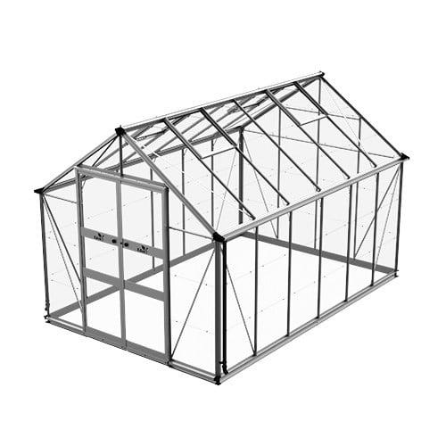 Växthus Odla 9,8 m²-Aluminium-Glas