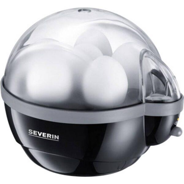 Severin EK 3056 Äggkokare med äggpickare Svart, Grå